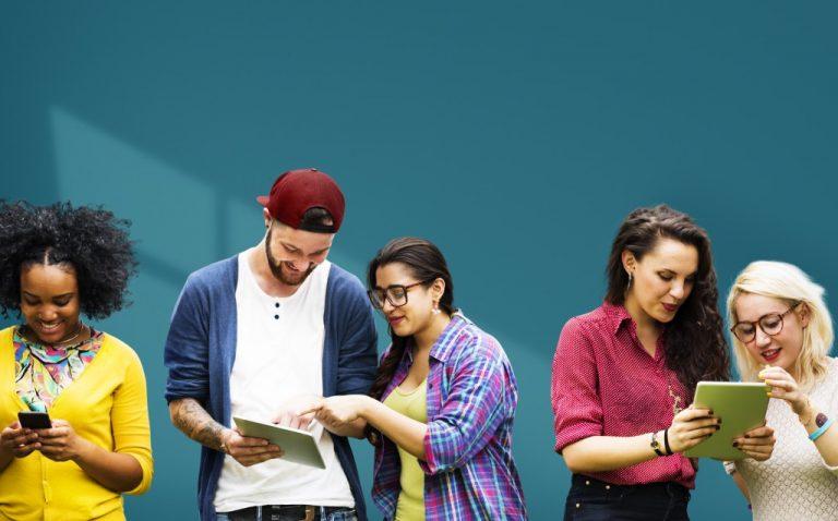 millennials on their phones
