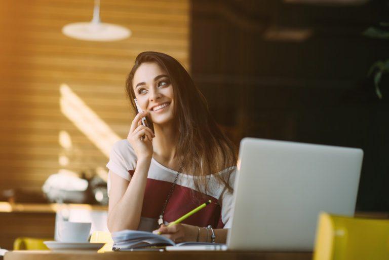 millennial woman working