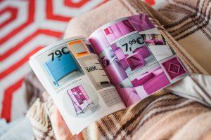 looking through a home catalog