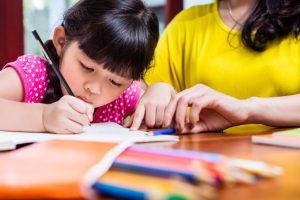 homeschooling child