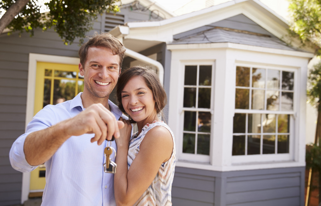 couple owning a house