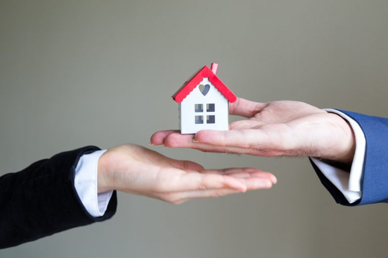 handing over a house