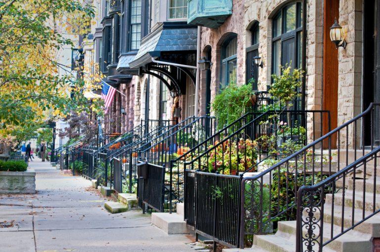 a beautiful neighborhood
